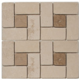 Medium Beige Square Pattern