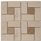 Medium Beige Square Pattern